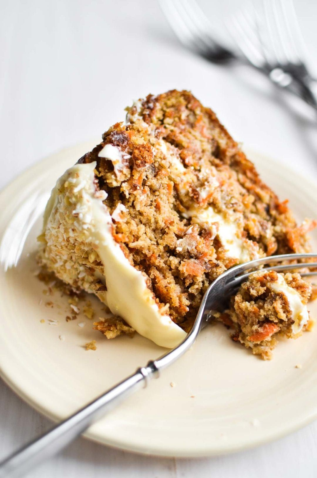 Gluten free carrot cake with cream cheese frosting this