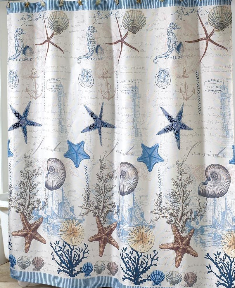 Nautical Fabric Shower Curtains Antigua Nautical Shower Curtain Coastal Fabric Shower Curtain On