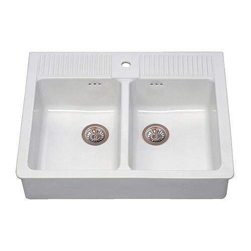 IKEA - DOMSJÖ, Lavello a 2 vasche, 25 anni di garanzia. Scopri i ...