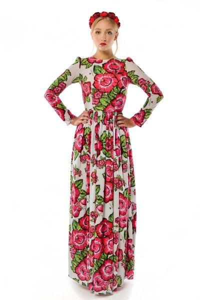 8e0e9335a1 Damroka - szyfonowa suknia w czerwone kwiaty