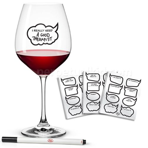 Set of 6 Metrokane Rabbit Clip-on Wine Glass Charms Drink Markers