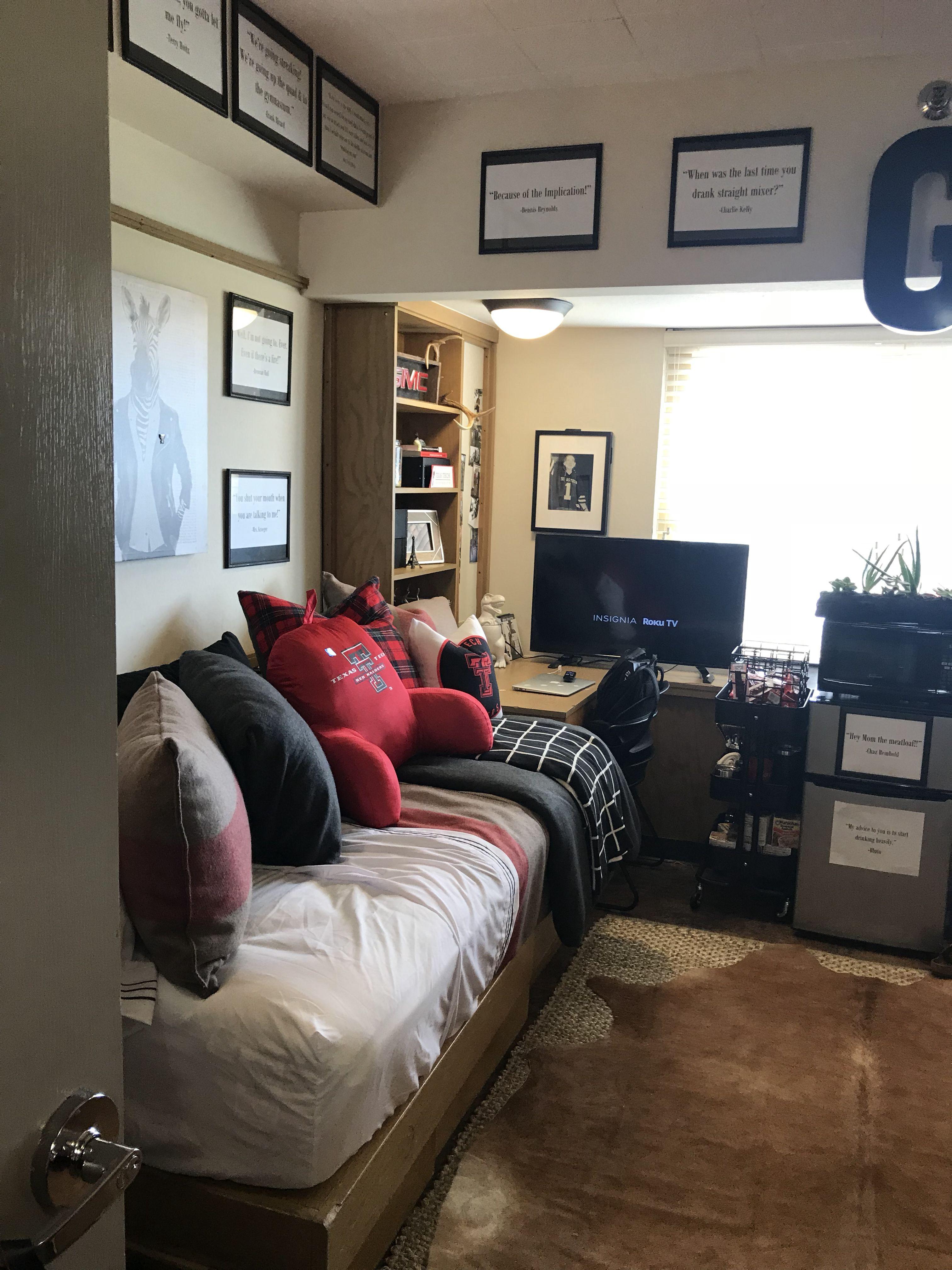 Texas Tech Murdough Dorm Cool Dorm Rooms Boys Dorm Room College Dorm Rooms