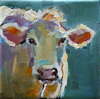 Carol Carmichael Paints March 2011 Cow Painting Farm Art Art