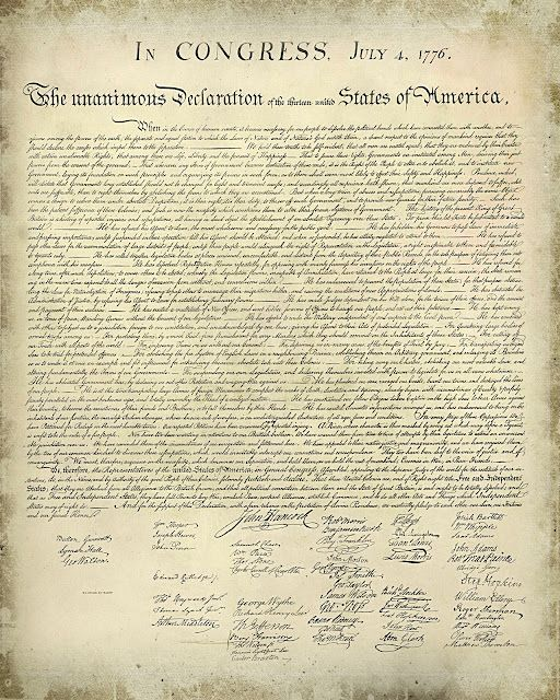 free printable declaration of independence great for 4th of july decorations