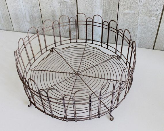 Bonjour, Lovely Large Round Wire Basket. This Holder Is The Ideal Storageu2026