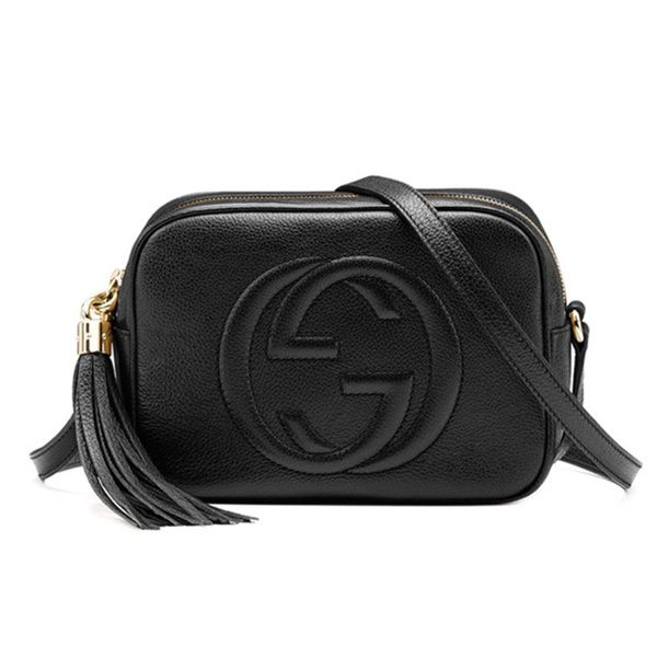 7b320ea531c4 Gucci Soho Disco Black Small Shoulder Bag