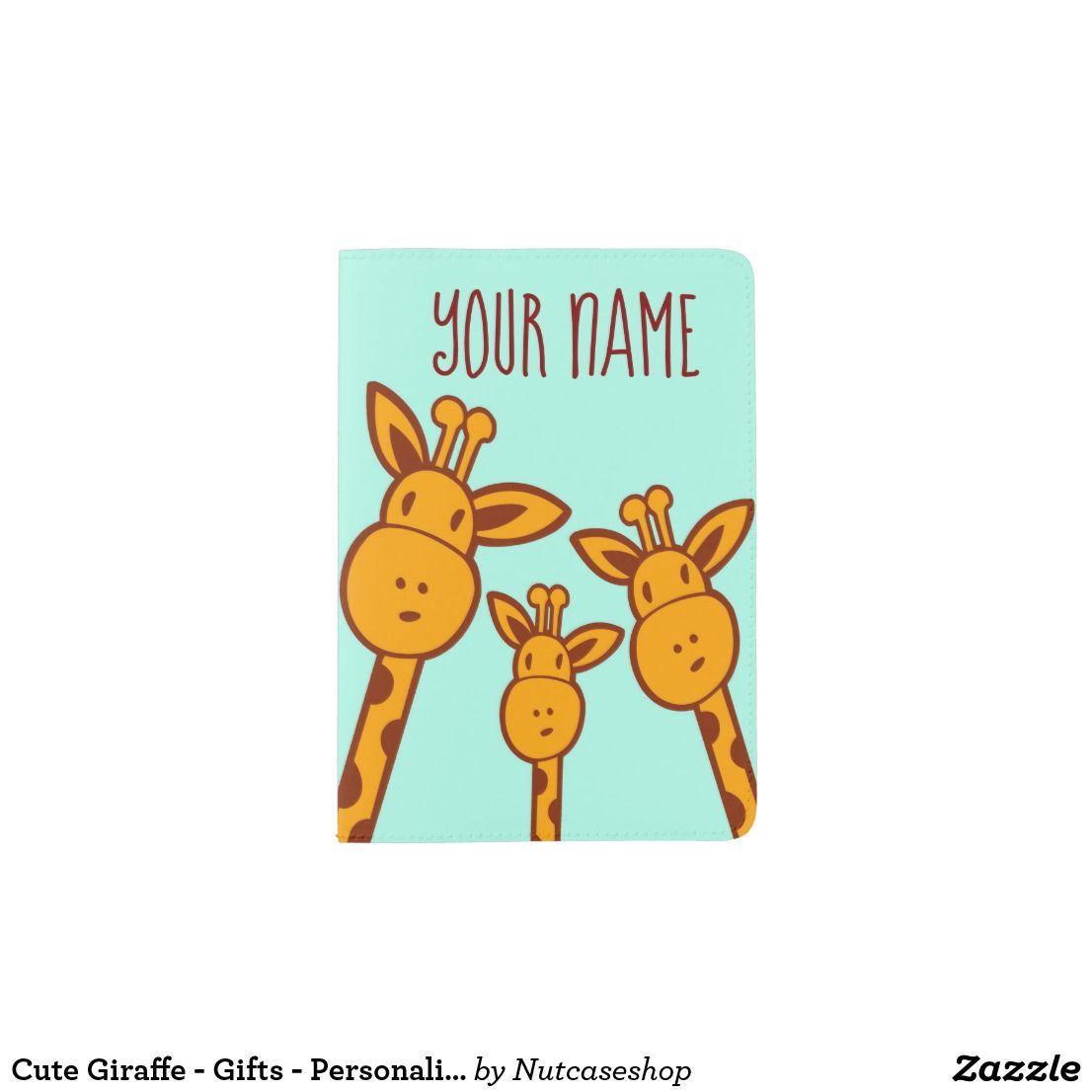 Cute Giraffe - Gifts - Personalized Passport Cover