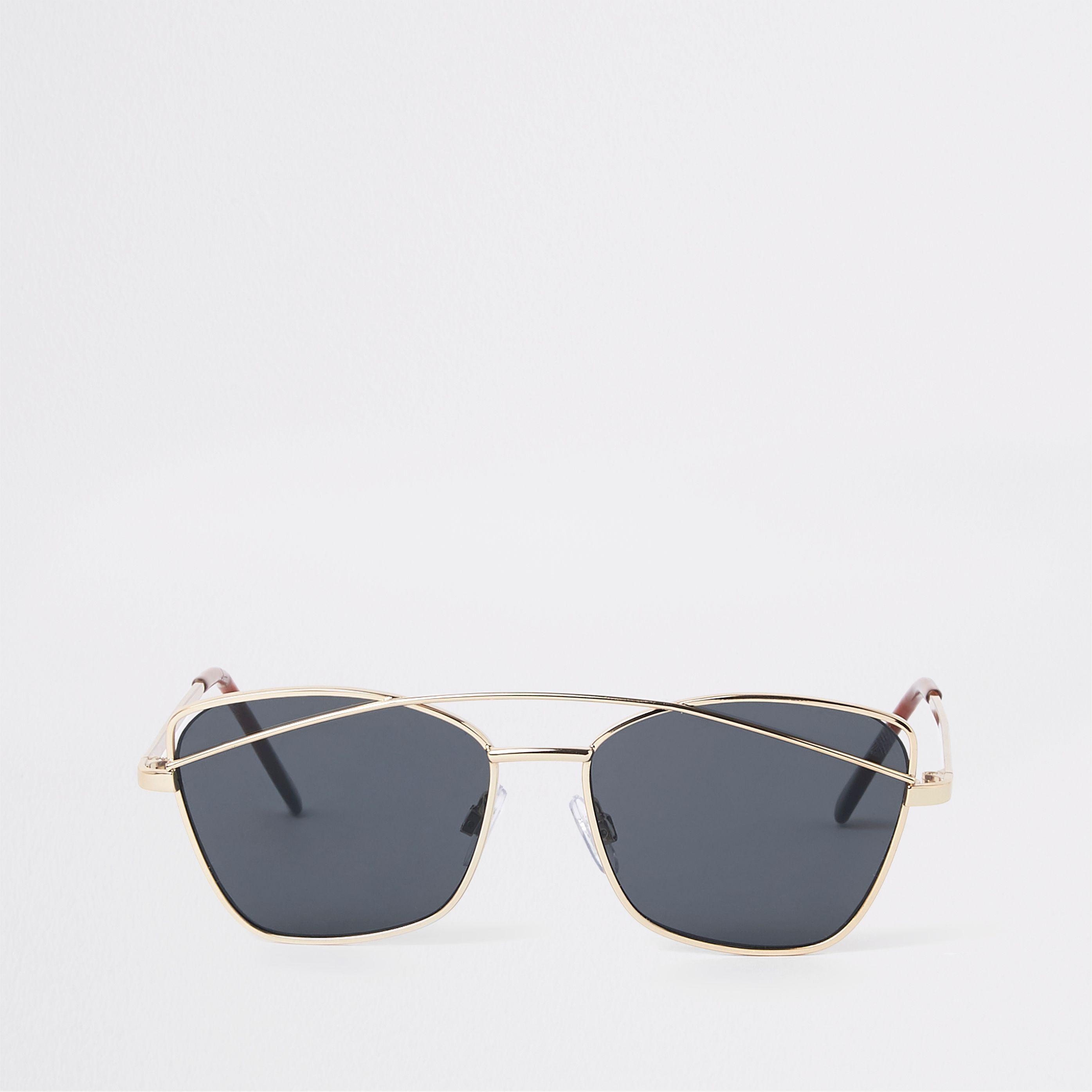 be1b966829f Girls Gold tone smoke lens sunglasses in 2019