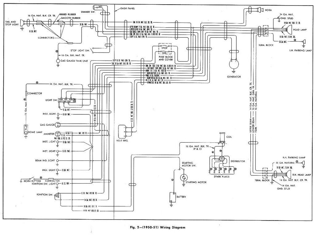 today we will be showing this complete wiring diagram of the 1950 to 1951 chevrolet pickup Dodge Wiring Diagrams Automotive Auto AC Wiring Diagram