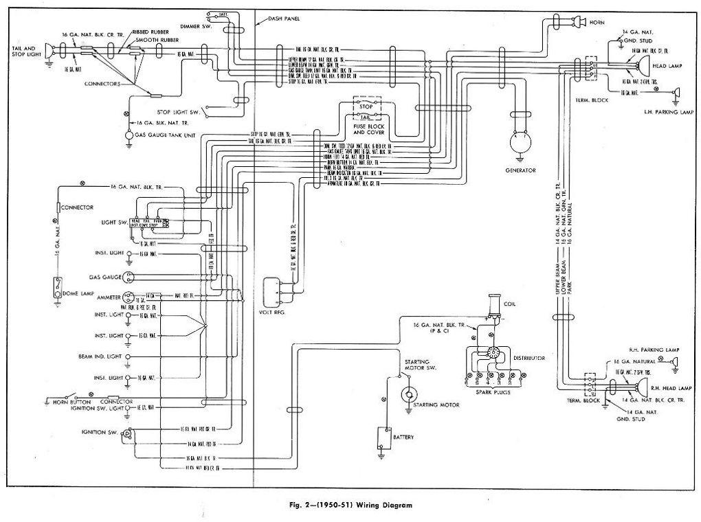 1951 chevrolet wiring