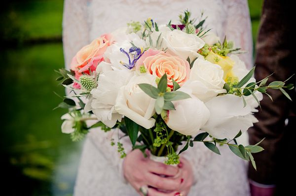 Beautiful relaxed wedding bouquet. Photography by www.jakemorley.co.uk