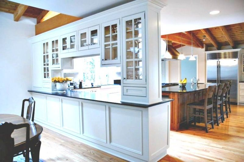 Kitchen with a room divider as extra storage clever for Extra storage for small kitchen
