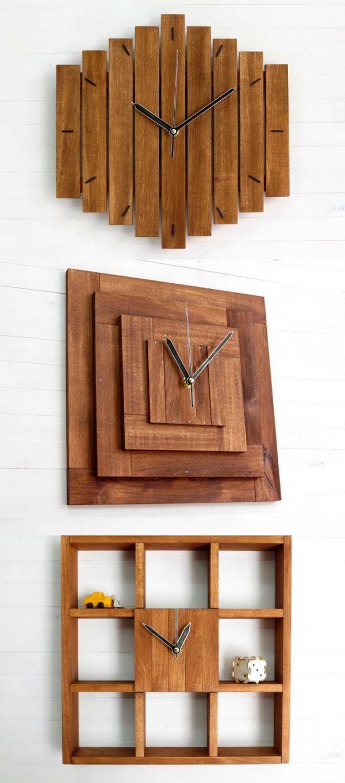Wall watch clock walnut natural wood wall clock clock fashionable praf xi pyramid wall wooden clock silent movement wall by paladim amipublicfo Image collections