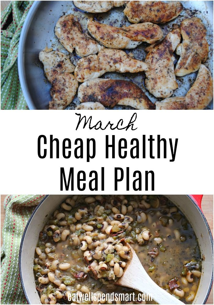 Cheap Healthy Meal Plan: March images