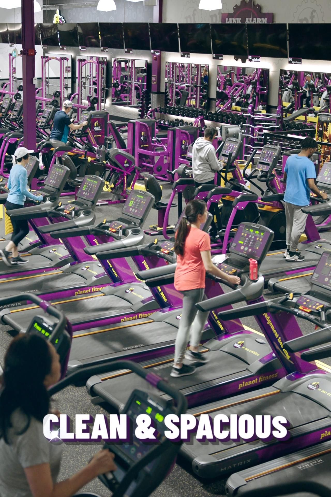 1 Down 10 A Month No Commitment Get All The Equipment You Want In A Clean Environment Video Planet Fitness Workout Gym Motivation Quotes Planet Fitness Gym