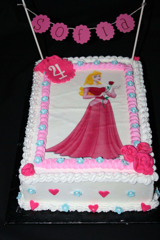 Superb Sleeping Beauty Birthday Cake With Images Birthday Cake Personalised Birthday Cards Paralily Jamesorg