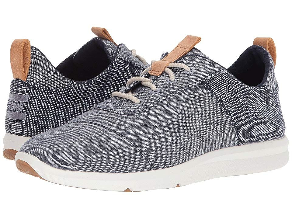 TOMS Cabrillo Navy Chambray Mix Womens Lace up casual Shoes With every pair of shoes you purchase TOMS will give a new pair of shoes to a child in need One for One The TO...