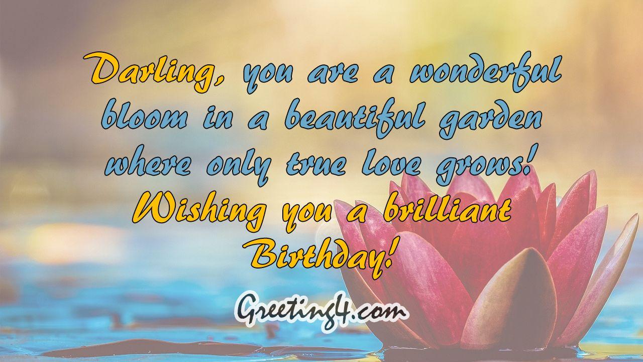 Pin on Short Romantic Birthday Wishes