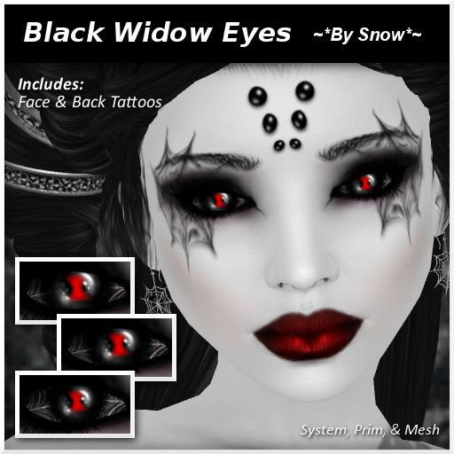 black widow makeup | Second Life Marketplace - ~*By Snow*~ Black ...