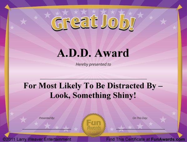 free funny award certificates templates | Sample Funny ...