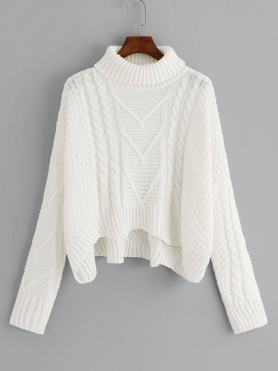 2702ea2c1f1  20 -- other colors -- Mixed Knit Asymmetrical Hem Jumper