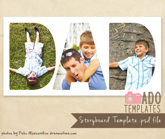 X Fathers Day Storyboard Template Digital Storyboard