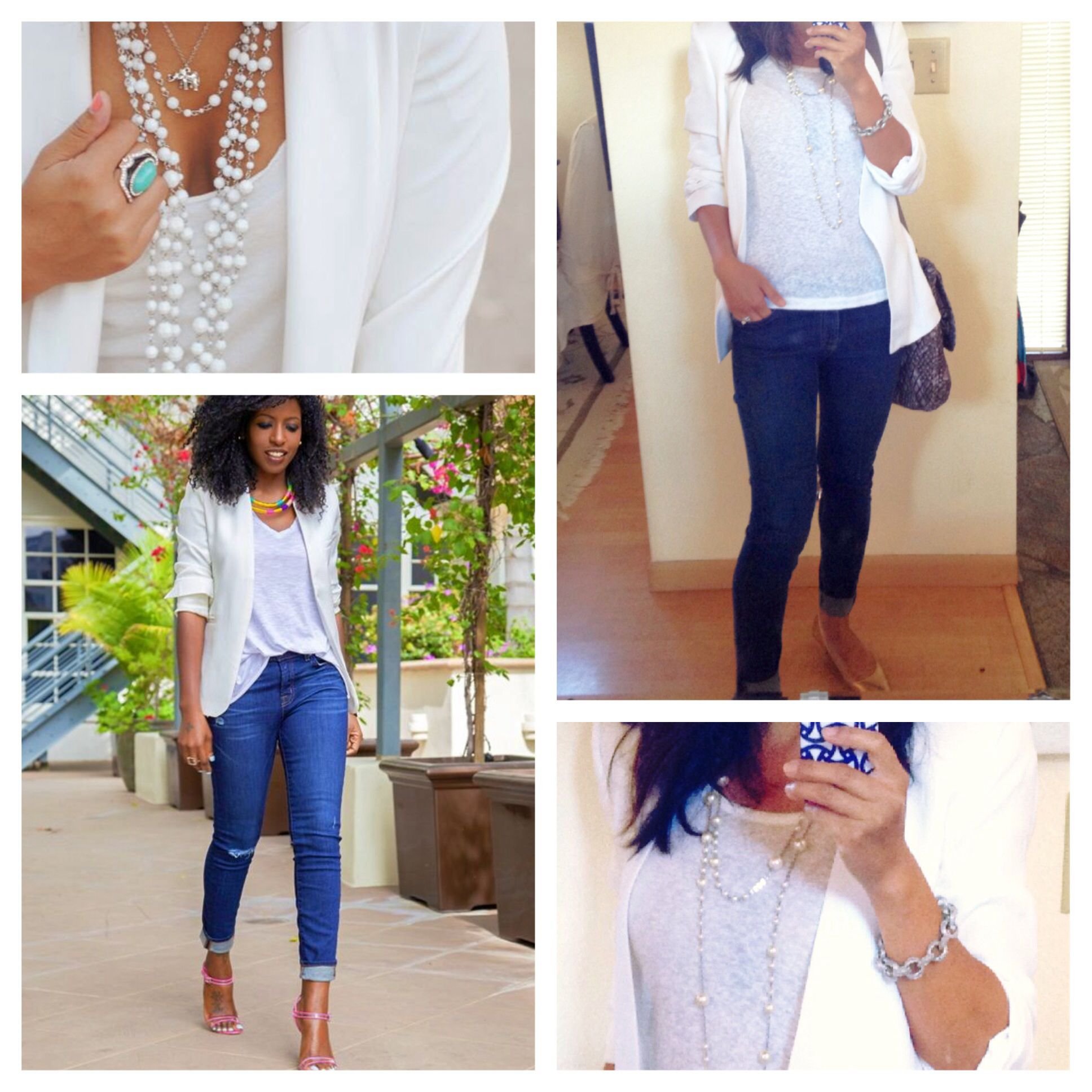 Inspired by Pinterest. Blazer by Zara, t shirt by American Eagle, jeans by Seven for All Mankind.