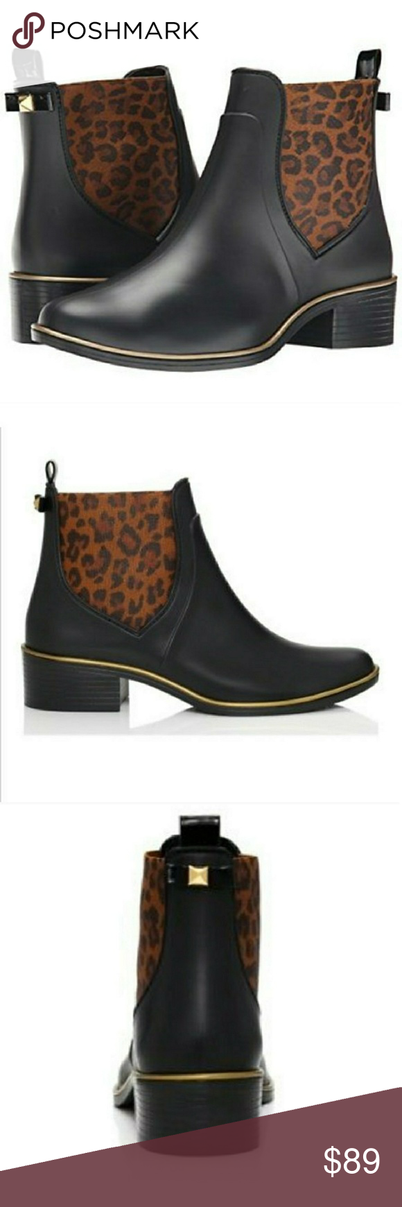 Kate Spade Domina Rain Booties Rain Boot Rain And Leopards