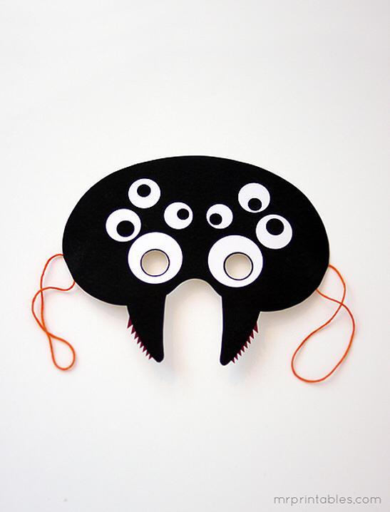 Printable Halloween Masks - Mr Printables #deguisementfantomeenfant Printable Halloween Masks - Mr Printables #deguisementfantomeenfant