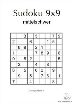 Sudoku Ratsel Mittel 9x9 Sudoku Ratsel Sudoku 10