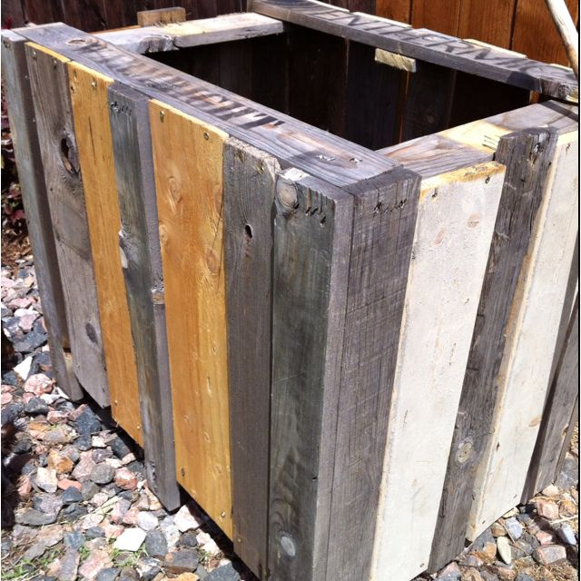Pallets Planters Diy Skid Stuff Pinterest Reclaimed Barn Wood