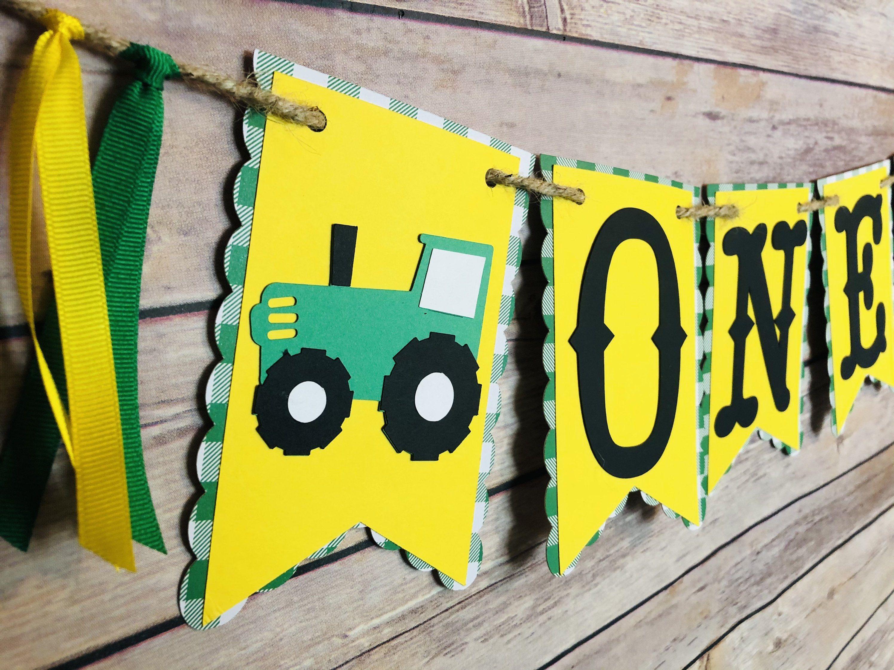 Custom Made John Deere Inspired Birthday Banner