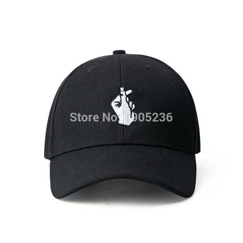 Love Gestures Finger Embroider Golf Baseball Caps Men Women Snapback Hats Snap Back Hats Little Heart Love Baseball Caps Mens Sports Accessories Snapback Hats
