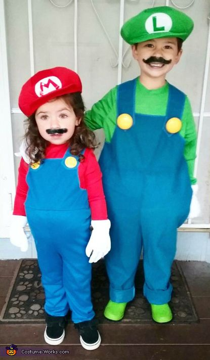 Mario and Luigi - 2016 Halloween Costume Contest