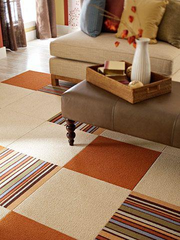 49 Carpet Tile Flooring Ideas, Using Carpet Tiles Living Room