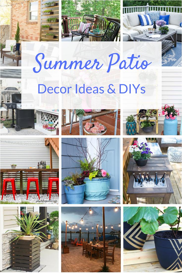 Diy Patio Ideas Two Purple Couches Diy Patio Decor Summer Patio Decor Patio Decor