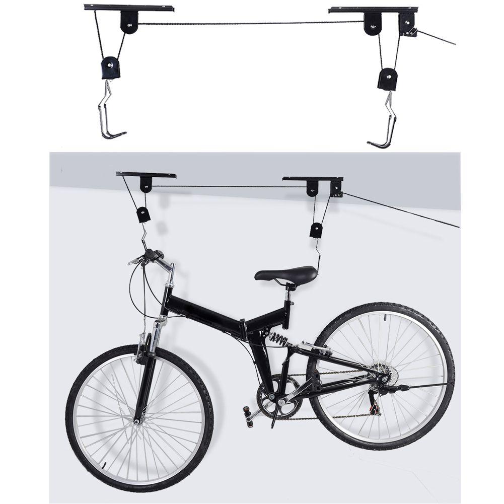 Accroche Velo intérieur vente chaude vélo vélo ascenseur plafond monté palan garage de