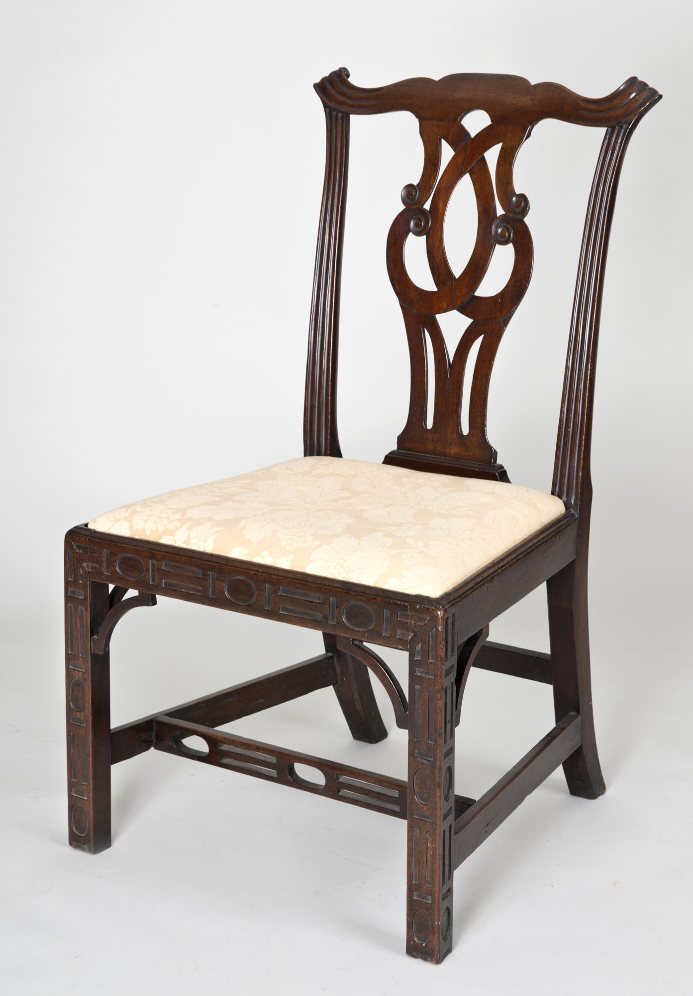 Chinese Chippendale Side Chair, Circa 1760
