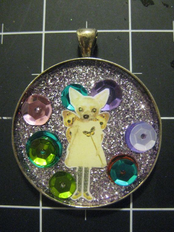 Purple Spangled Chihuahua Fairy A Little Dog's Wish by scrappyrat