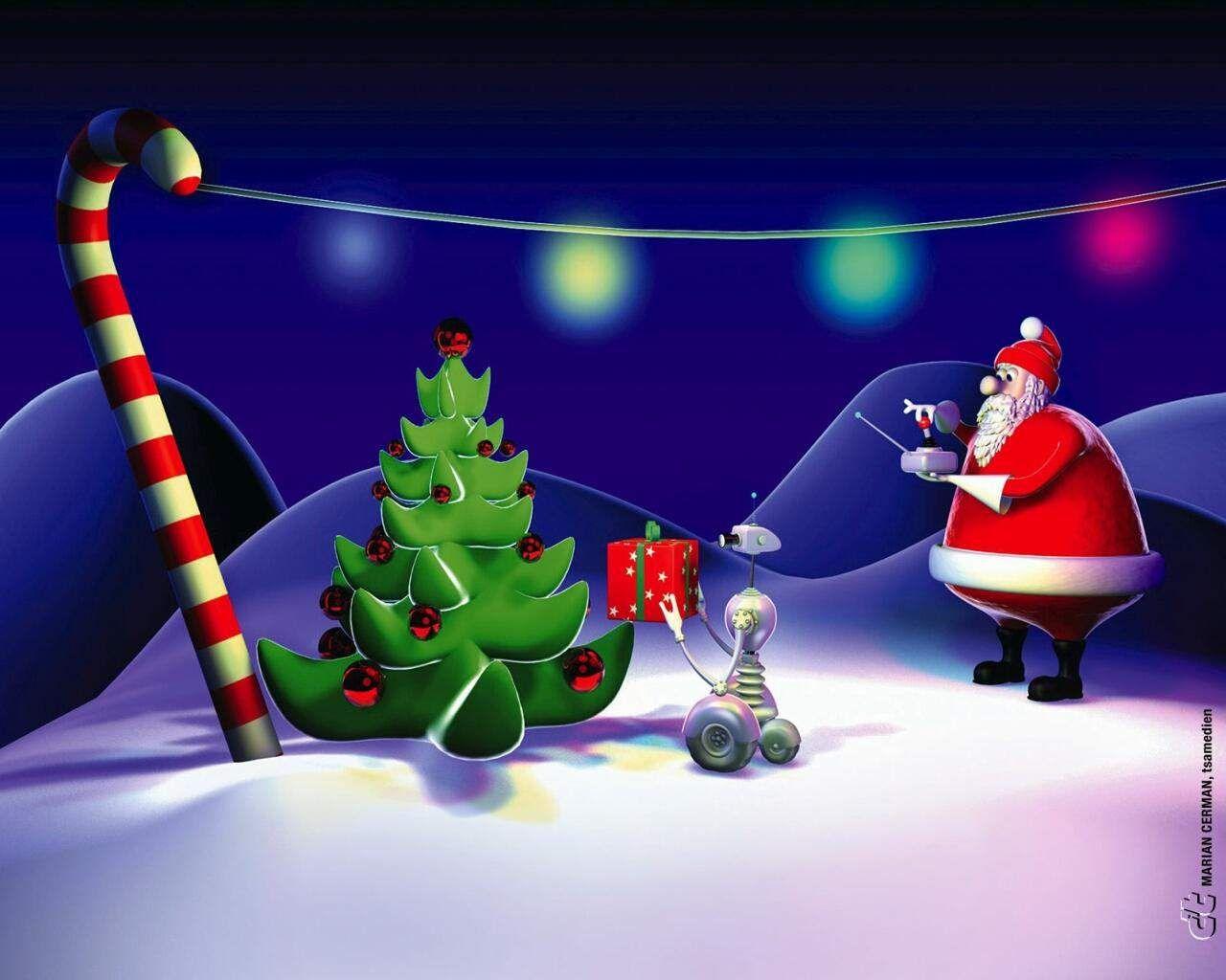 New Santa Animated Merry Christmas Hd Wallpaper Wallpaper With Animated Christmas Wallpaper Christmas Wallpaper Christmas Toys