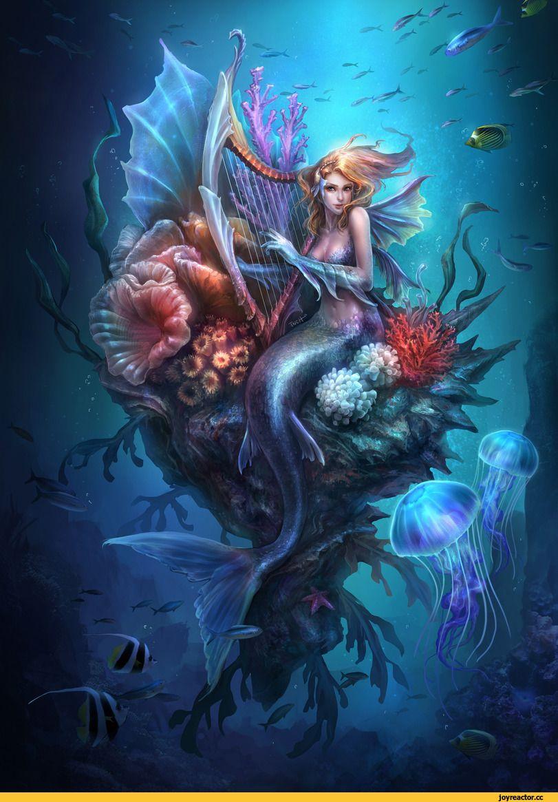 Картинки девушек русалка