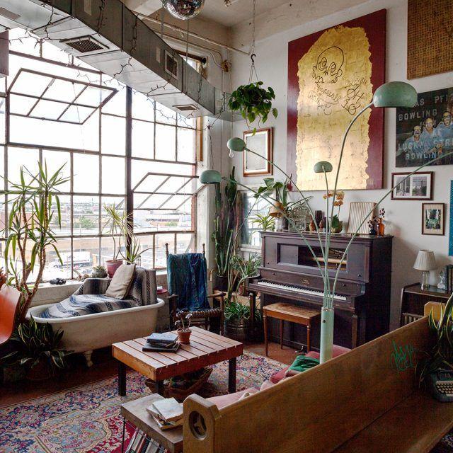 Brooklyn Industrial Loft Apartments: My 900sqft: Artist Ehren Shorday Adorns His Bushwick Loft