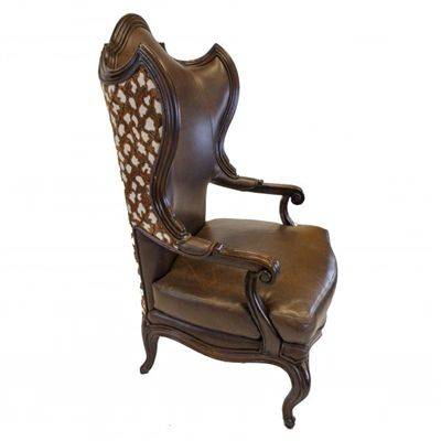 Pleasing Countess Old World Tuscan Style Gorgeous Fabric Leather Unemploymentrelief Wooden Chair Designs For Living Room Unemploymentrelieforg