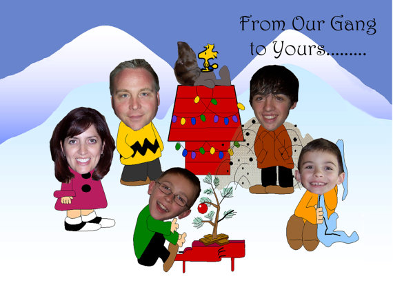 peanuts inspired unique family photo christmas by pictureyourself 1800