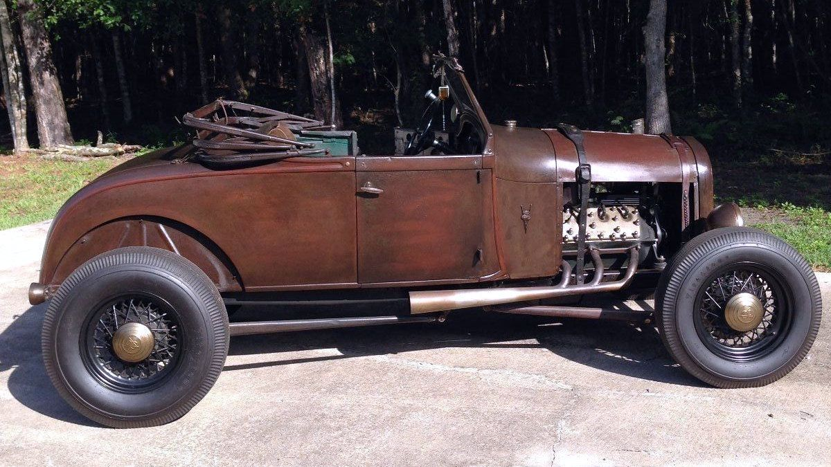 1929 ford model a roadster with a 1940 s flathead v8