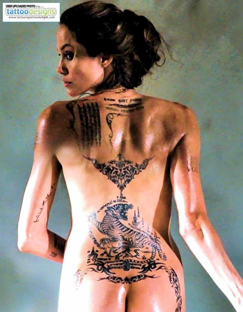jolie tattoos Angelina