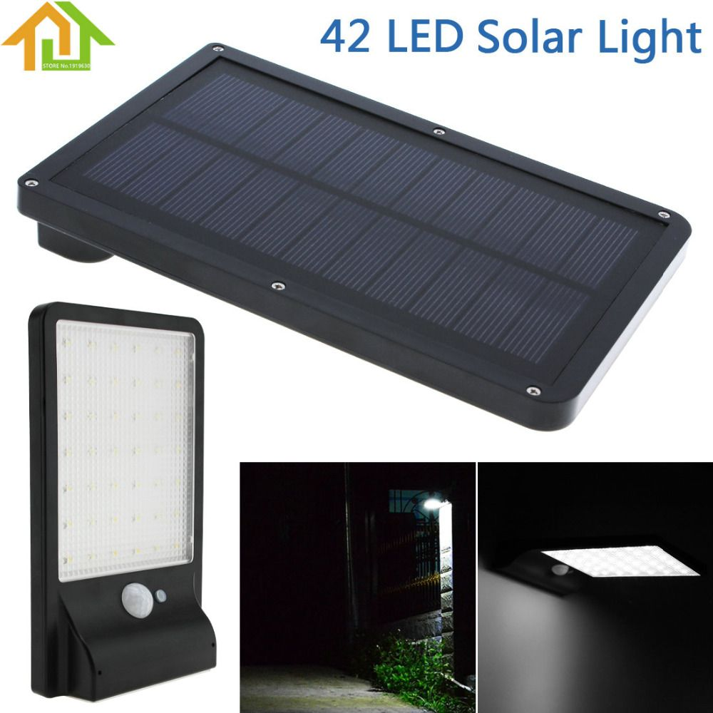 42 Led 3 Mode Waterproof Outdoor Solar Power Light Pir Motion Sensor For Garden Security Pathway Balcony Yard Led Flood Lights Led Flood Solar Lights