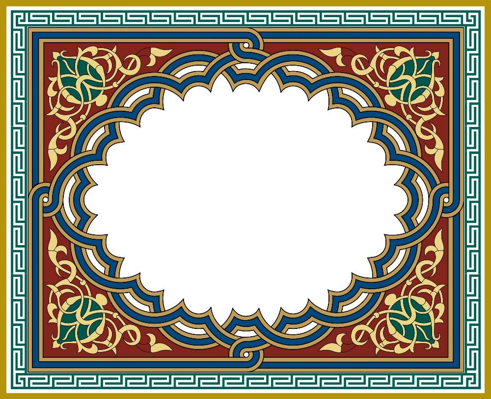 Тонкий узор в арабском стиле Векторное изображение