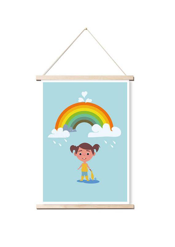 Affiche Papier Illustration Arc En Ciel Tres Belle Affiche Pour