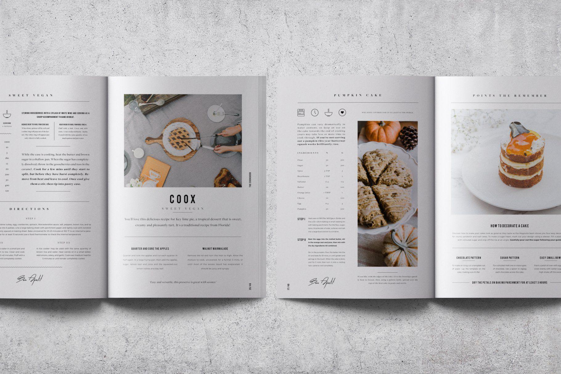 Cookbook Recipe Book V 02 Recipe Book Design Recipe Book Cookbook Design